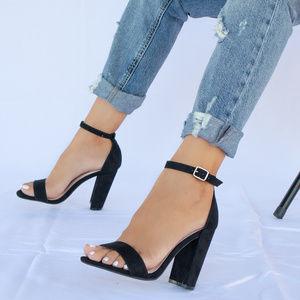 Girls Trip - Black Ankle Strap Heels